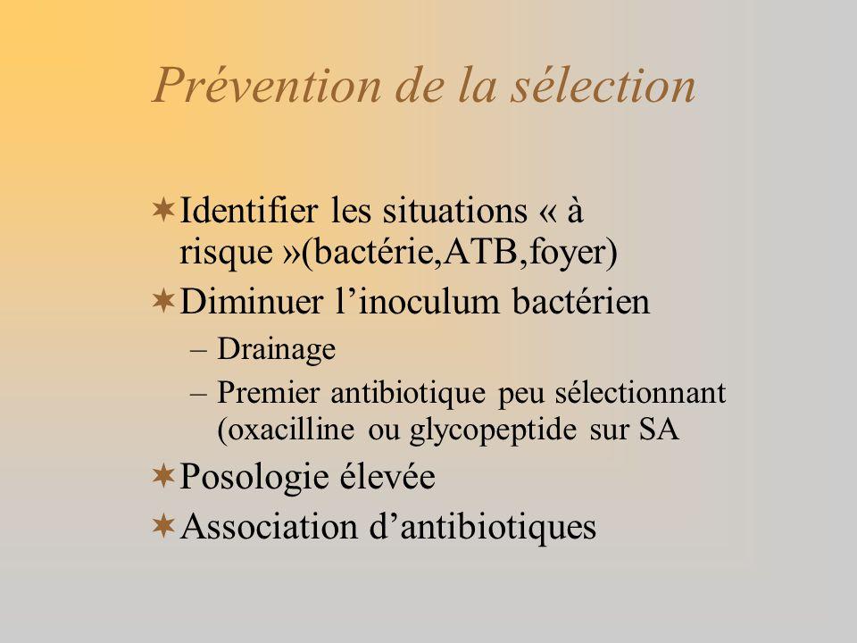 Prévention de la sélection