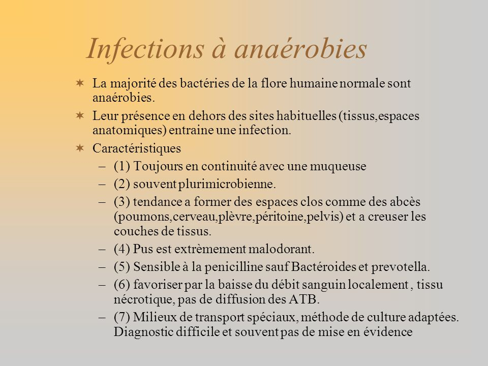 Infections à anaérobies