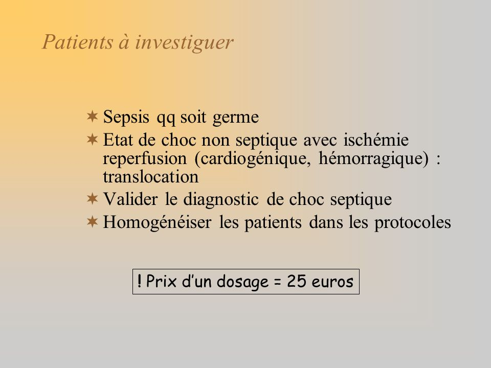 Patients à investiguer