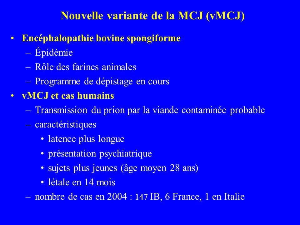Nouvelle variante de la MCJ (vMCJ)