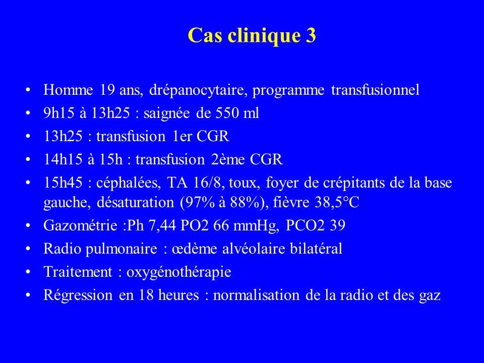 Cas clinique 3 Homme 19 ans, drépanocytaire, programme transfusionnel