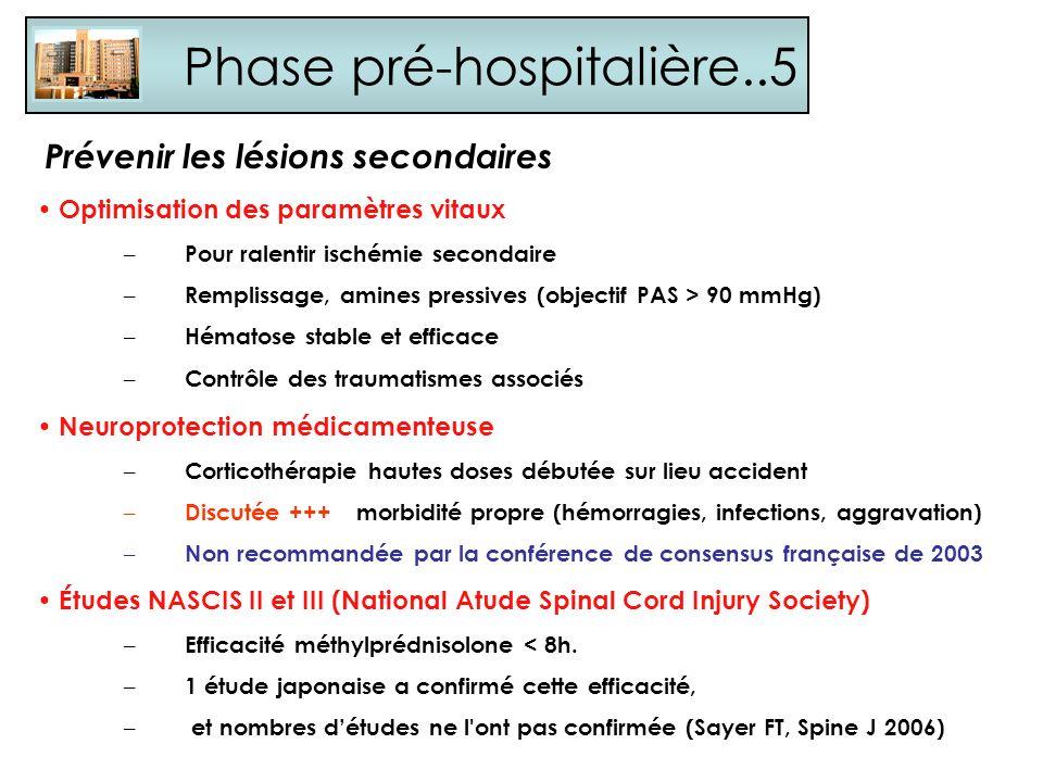 Phase pré-hospitalière..5