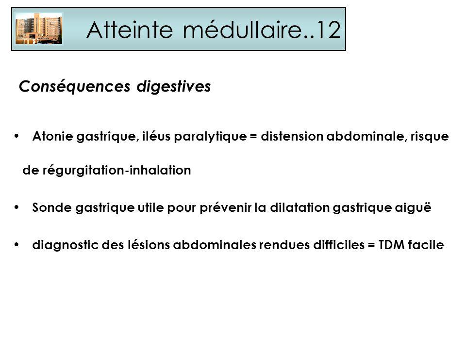 Atteinte médullaire..12 Conséquences digestives