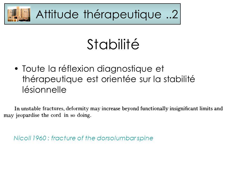 Stabilité Attitude thérapeutique ..2