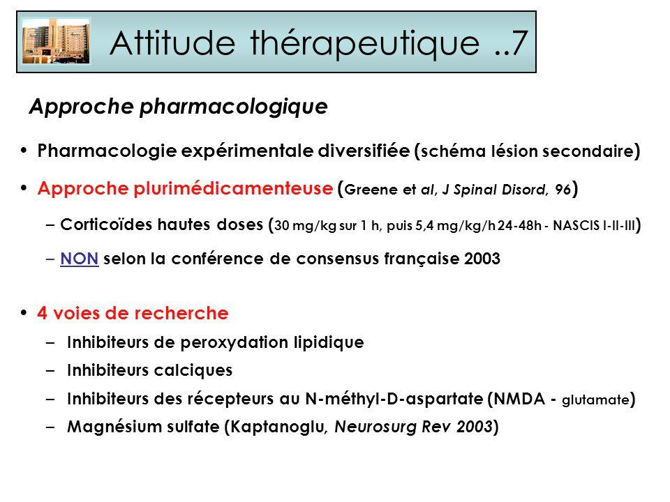 Attitude thérapeutique ..7
