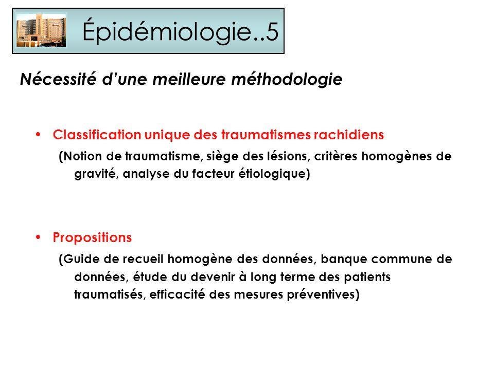 Épidémiologie..5 Nécessité d'une meilleure méthodologie