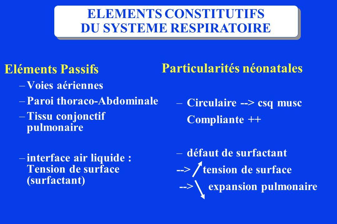 ELEMENTS CONSTITUTIFS DU SYSTEME RESPIRATOIRE
