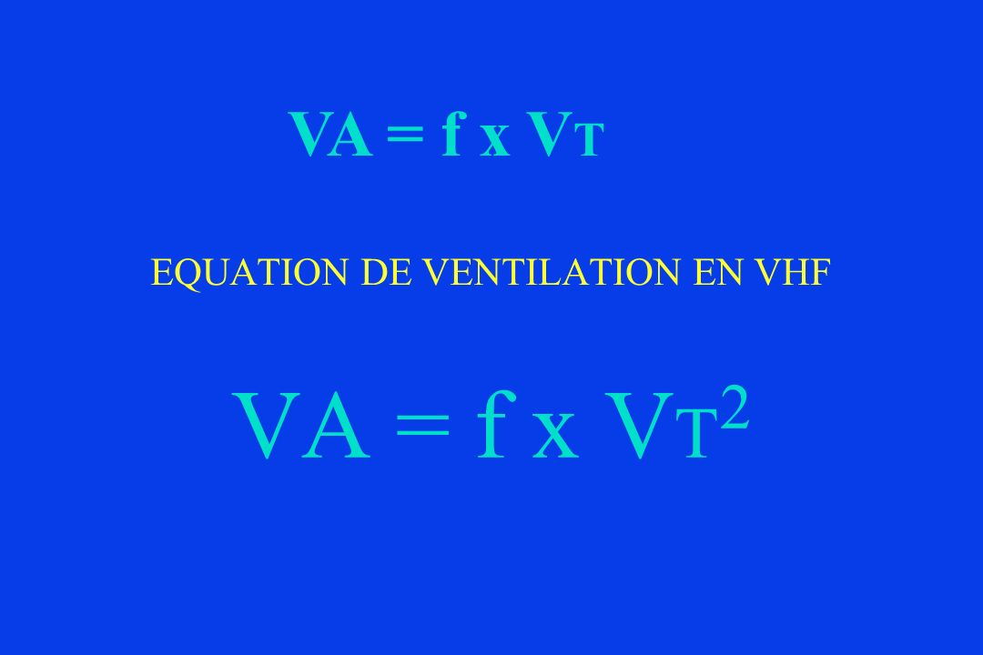 EQUATION DE VENTILATION EN VHF