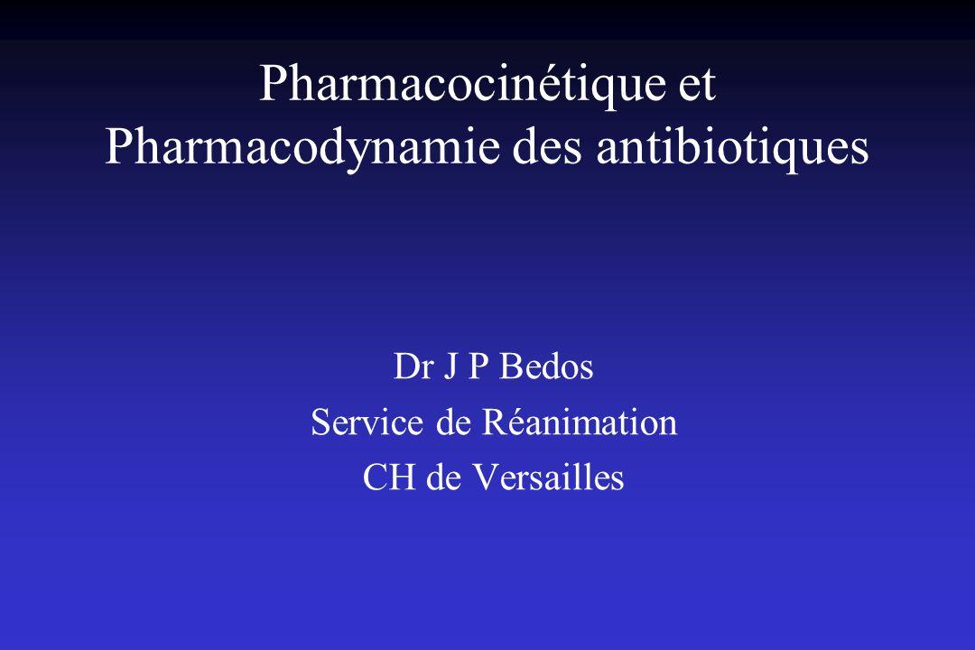 Pharmacocinétique et Pharmacodynamie des antibiotiques