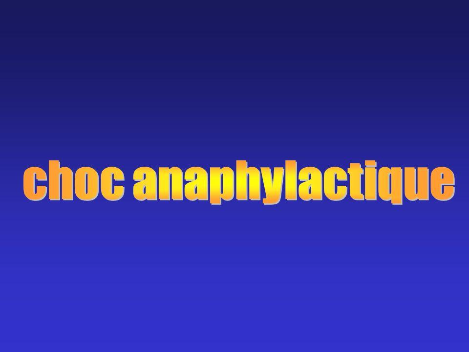 choc anaphylactique