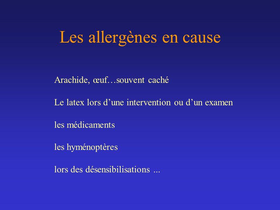 Les allergènes en cause