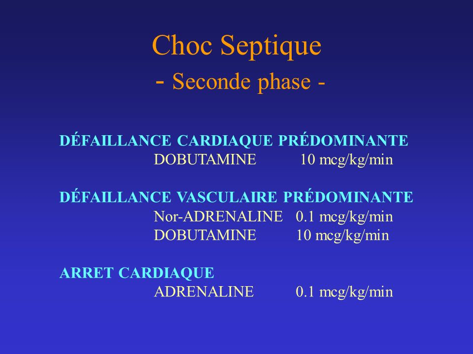 Choc Septique - Seconde phase -
