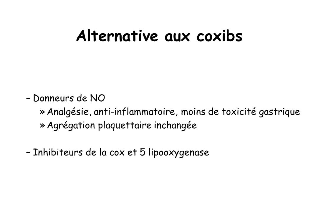 Alternative aux coxibs