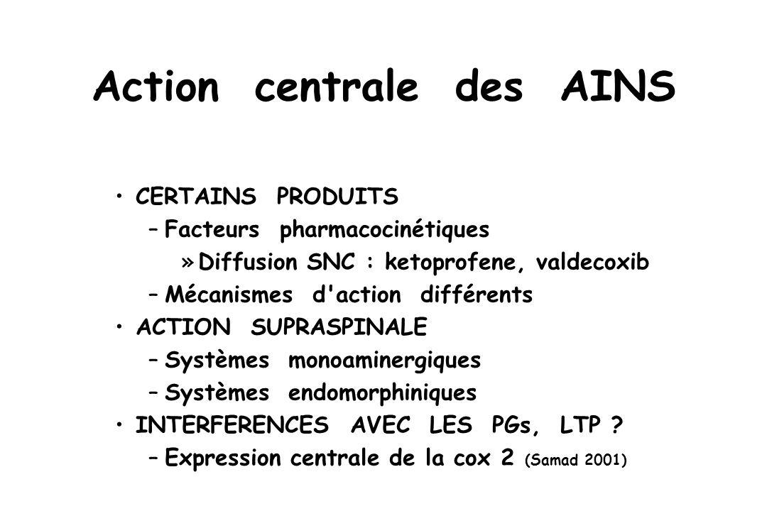 Action centrale des AINS