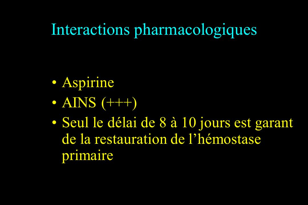 Interactions pharmacologiques
