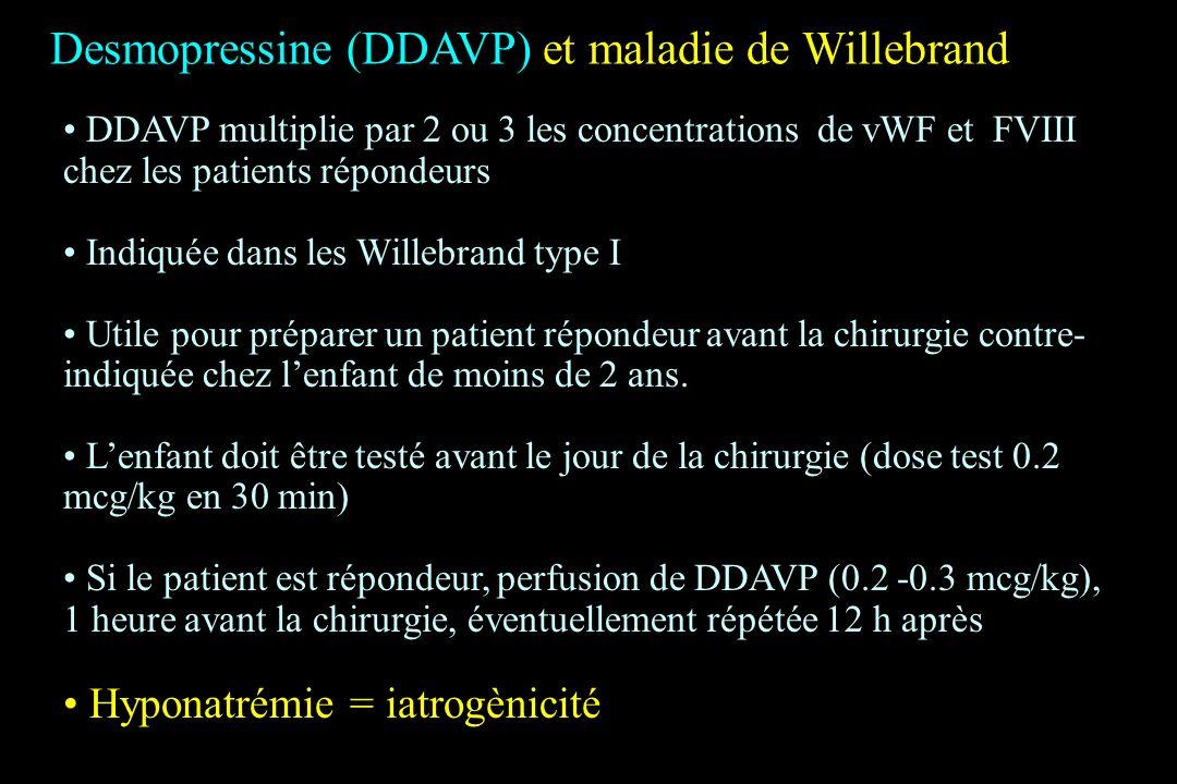Desmopressine (DDAVP) et maladie de Willebrand