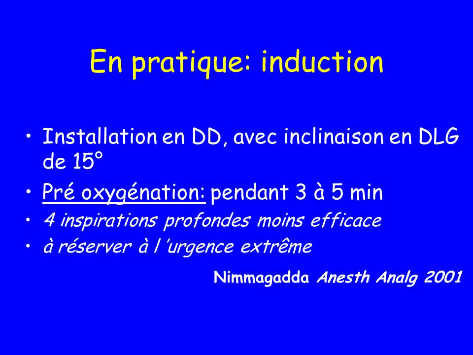 En pratique: induction