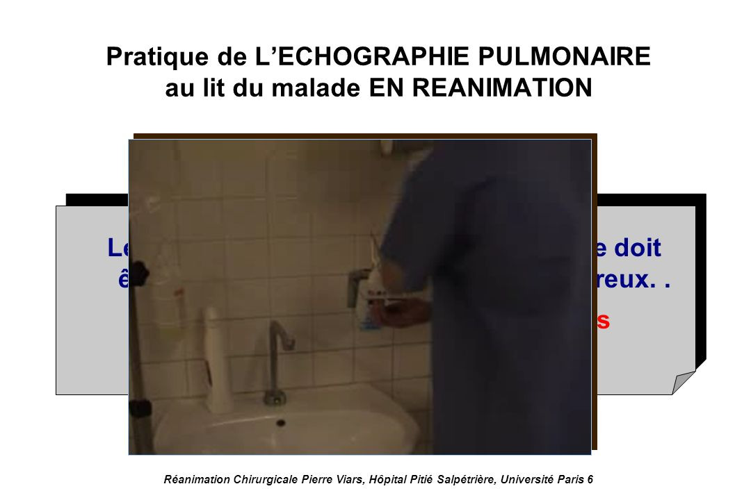 Pratique de L'ECHOGRAPHIE PULMONAIRE au lit du malade EN REANIMATION