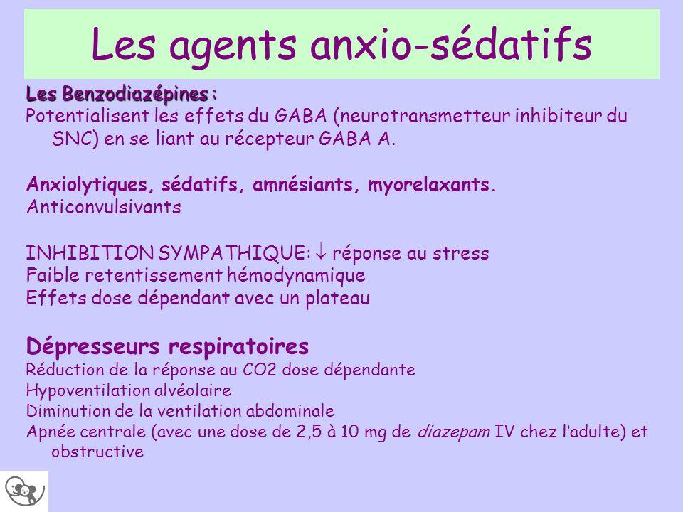 Les agents anxio-sédatifs