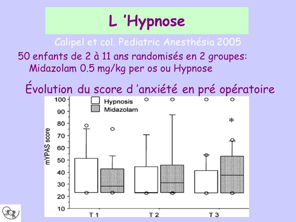 Calipel et col. Pediatric Anesthésia 2005