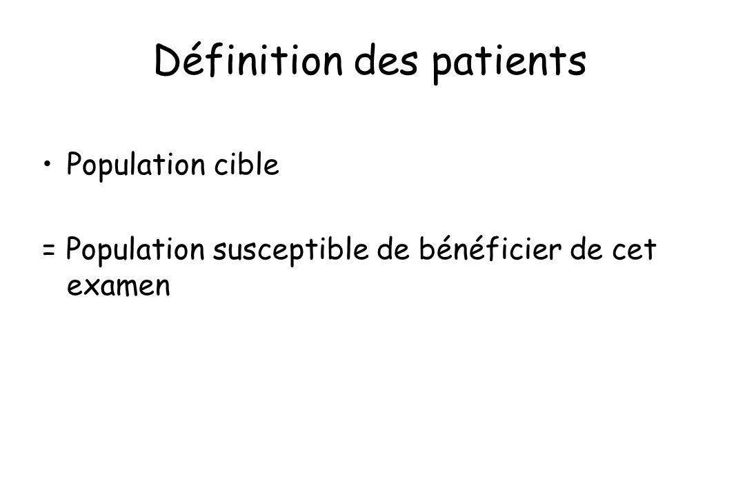 Définition des patients