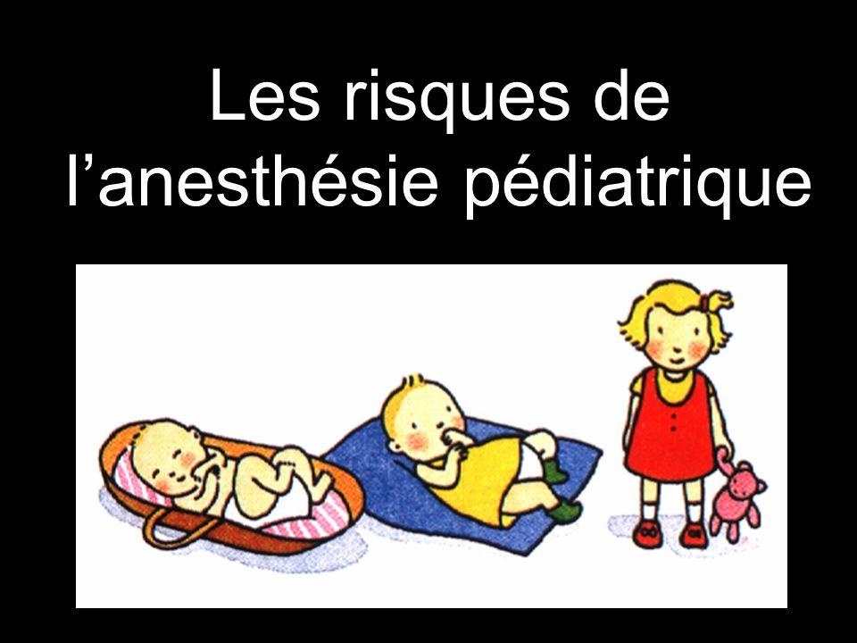 Les risques de l'anesthésie pédiatrique