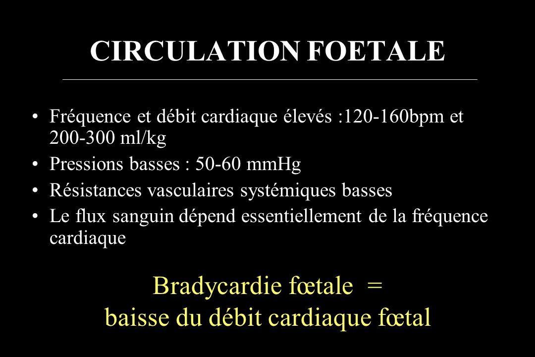 baisse du débit cardiaque fœtal