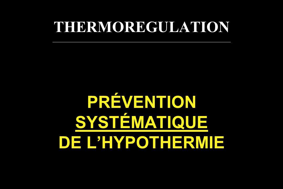 PRÉVENTION SYSTÉMATIQUE DE L'HYPOTHERMIE