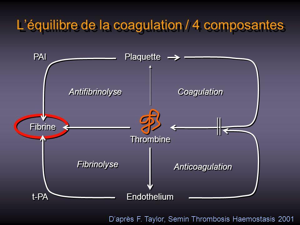 L'équilibre de la coagulation / 4 composantes