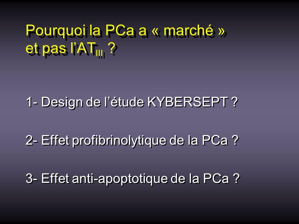 Pourquoi la PCa a « marché » et pas l'ATIII