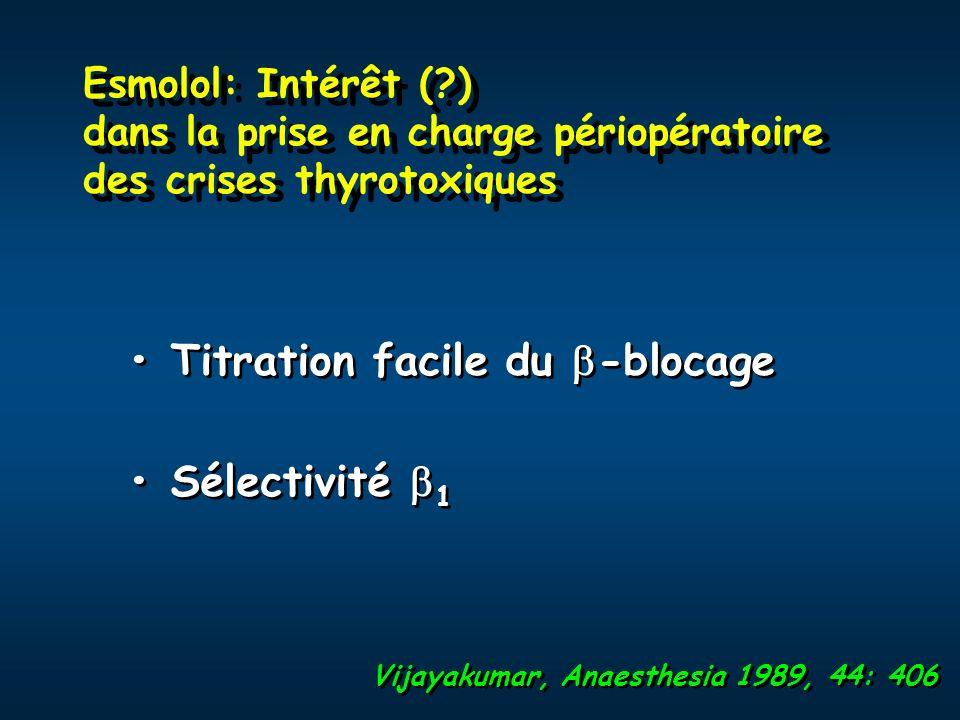 • Titration facile du -blocage • Sélectivité 1