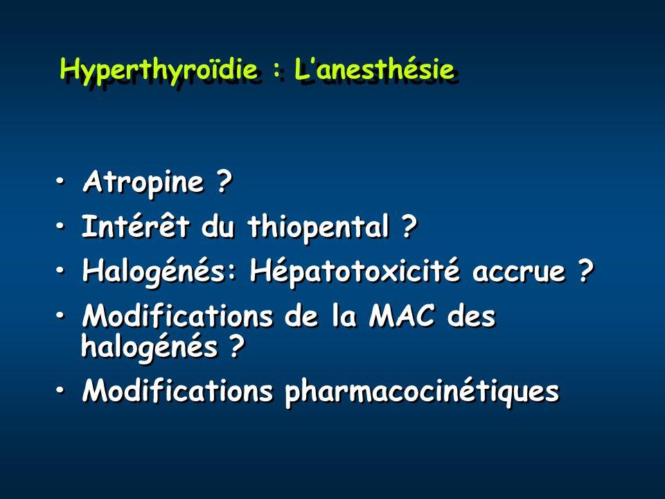 Hyperthyroïdie : L'anesthésie