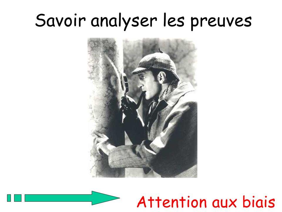 Savoir analyser les preuves