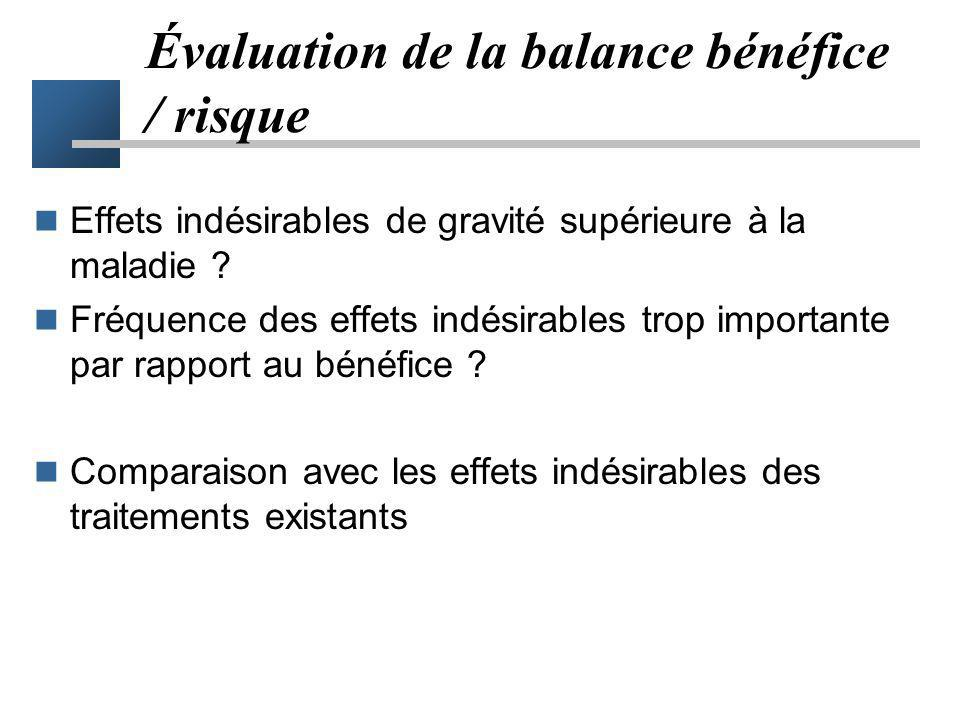 Évaluation de la balance bénéfice / risque