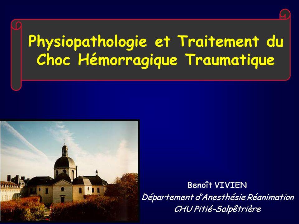 Physiopathologie et Traitement du Choc Hémorragique Traumatique