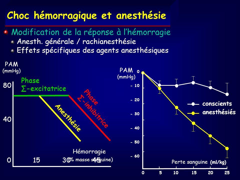 Choc hémorragique et anesthésie