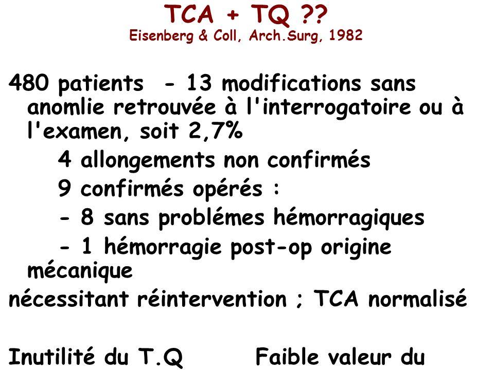 TCA + TQ Eisenberg & Coll, Arch.Surg, 1982