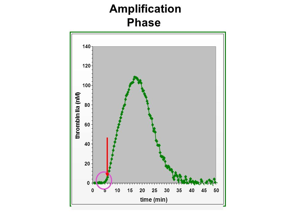 Amplification Phase thrombin IIa (nM) time (min) 20 40 60 80 100 120