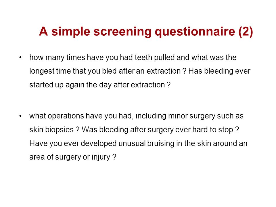 A simple screening questionnaire (2)