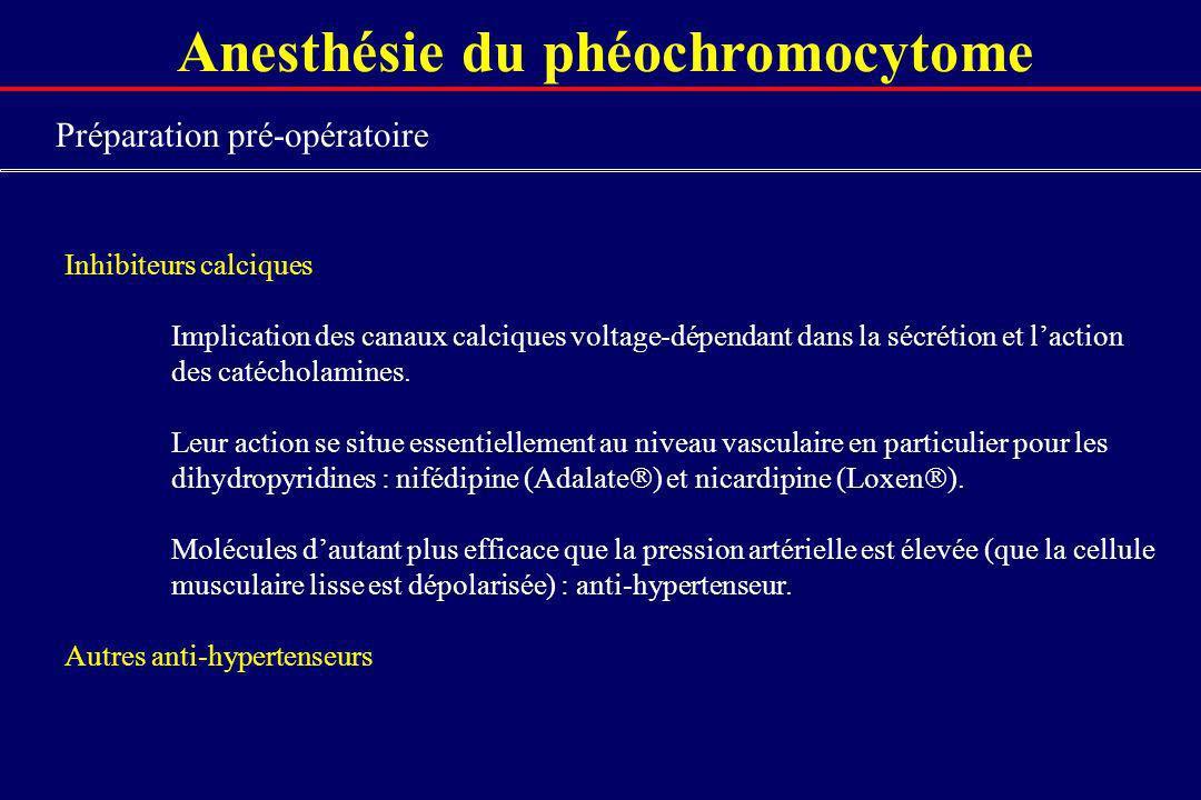 Anesthésie du phéochromocytome