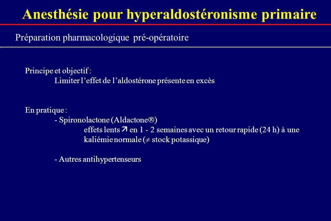 Anesthésie pour hyperaldostéronisme primaire