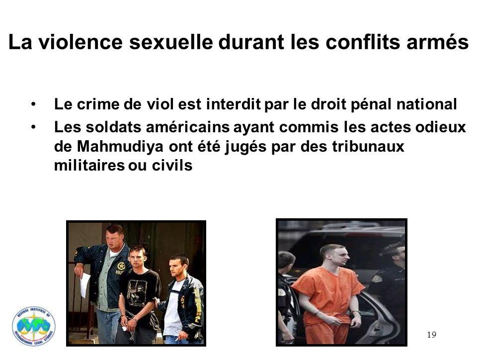 La violence sexuelle durant les conflits armés