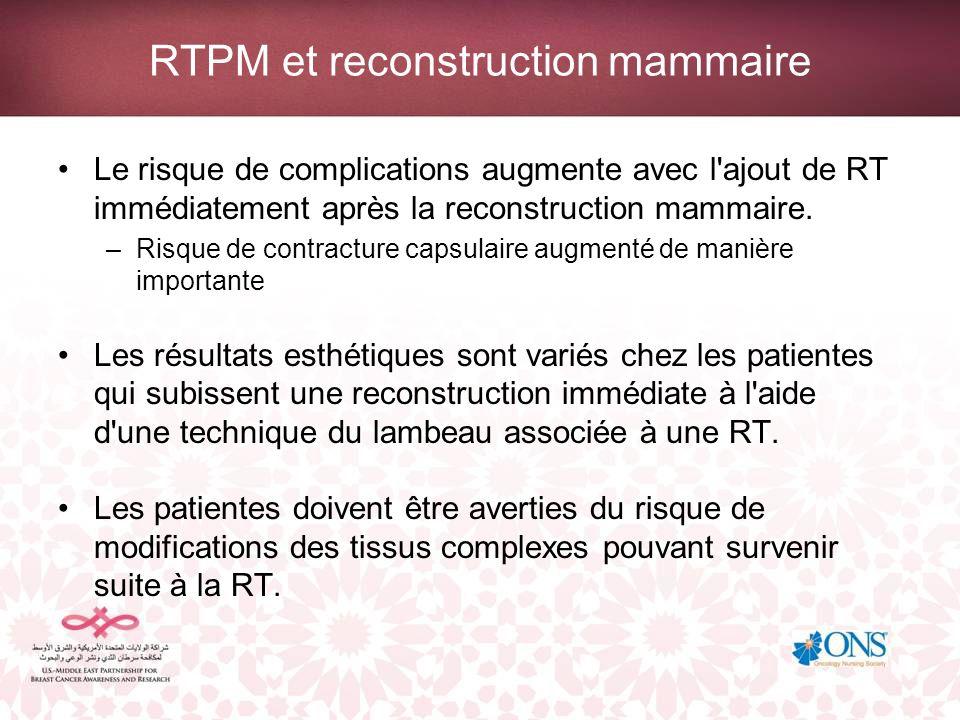 RTPM et reconstruction mammaire
