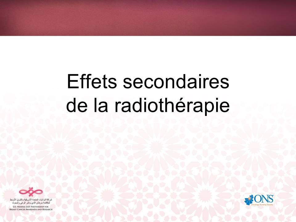 Effets secondaires de la radiothérapie
