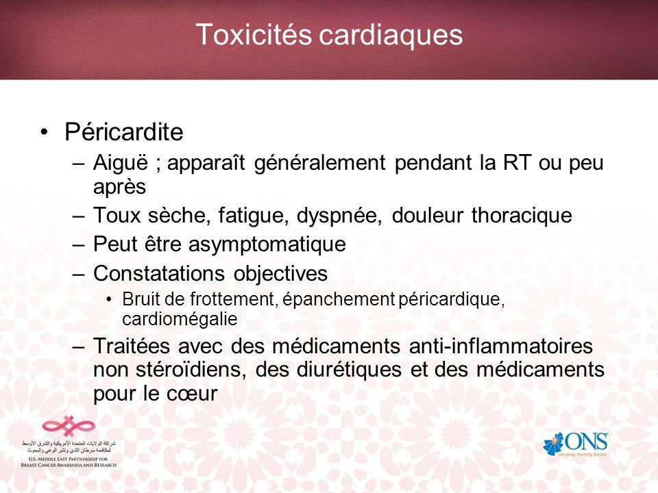 Toxicités cardiaques Péricardite