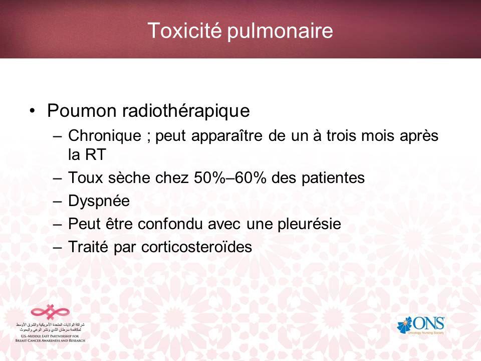 Toxicité pulmonaire Poumon radiothérapique