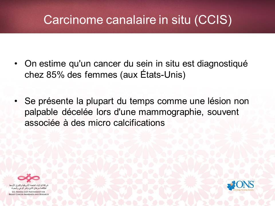 Carcinome canalaire in situ (CCIS)