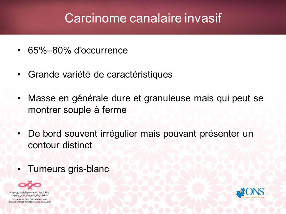 Carcinome canalaire invasif
