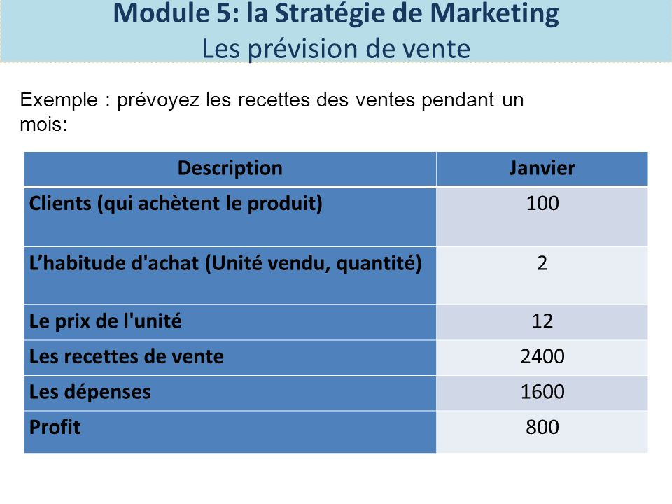 Module 5: la Stratégie de Marketing