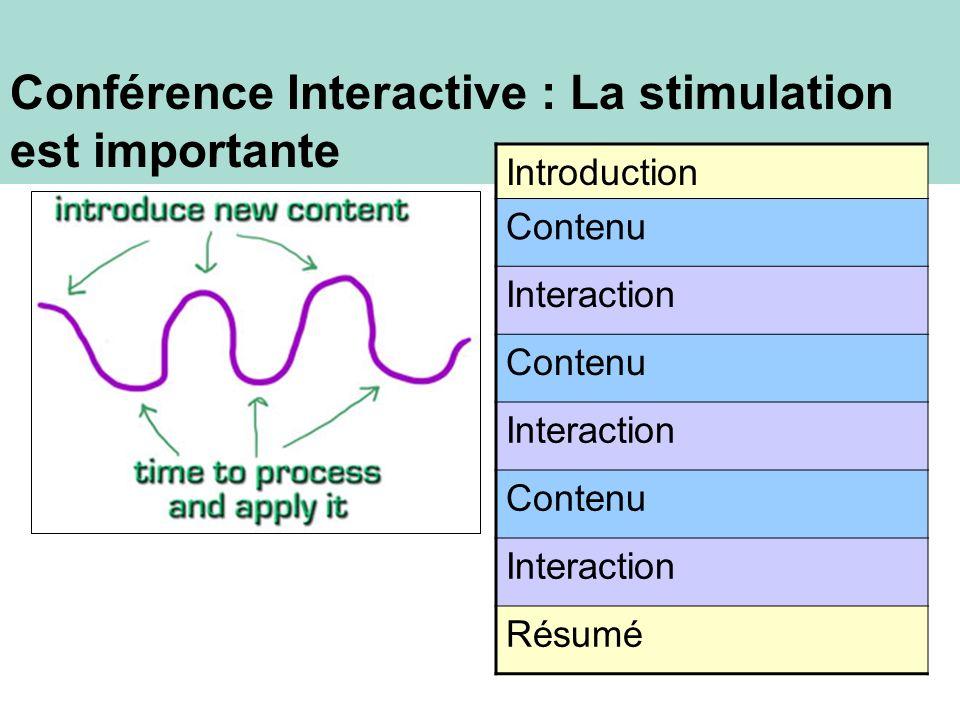 Conférence Interactive : La stimulation est importante